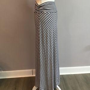 Navy & White Coverup/Maxi Skirt